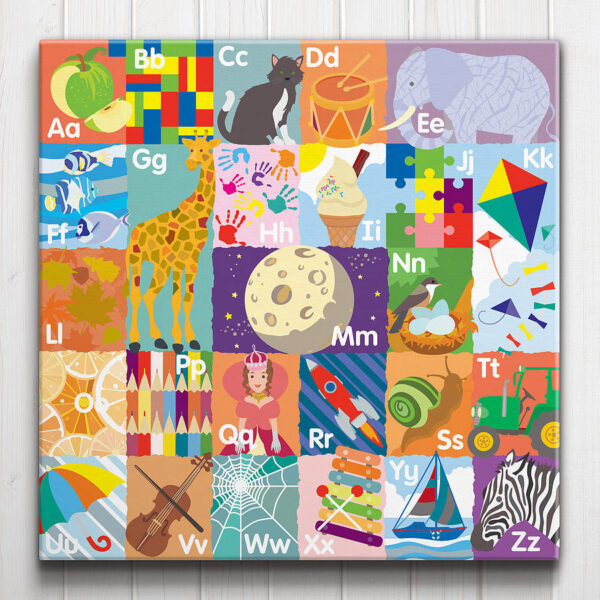 Alphabet ABC Canvas