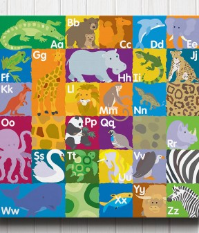 Animal Alphabet Canvas