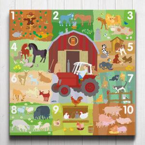 Farmyard Counting Canvas