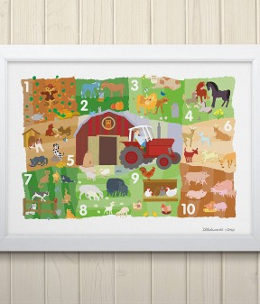 Farmyard Counting Print