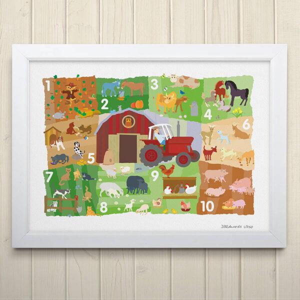 Farmyard Counting Print