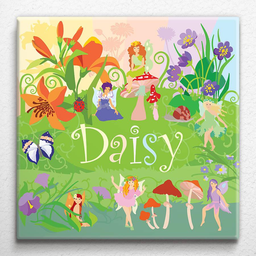 Flower Fairies Personalised Canvas