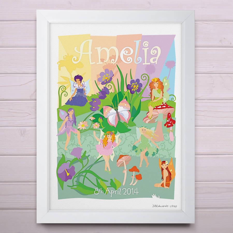 Flower Fairies Personalised Print