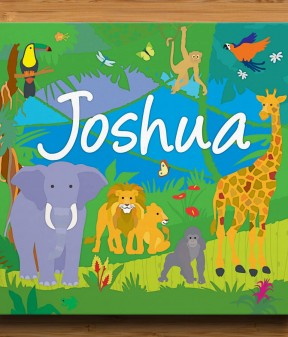 Jungle Adventure Personalised Canvas