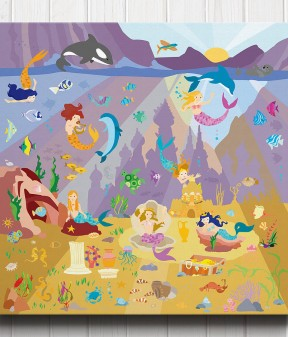 Mermaid Lagoon Canvas