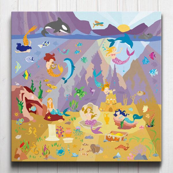 Mermaid Lagoon Canvas