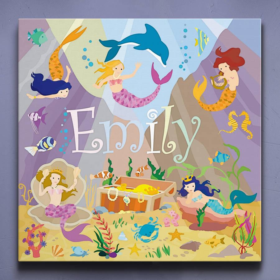 Mermaid Lagoon Personalised Canvas