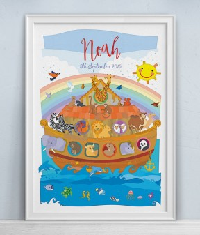 Noah's Ark Personalised Print
