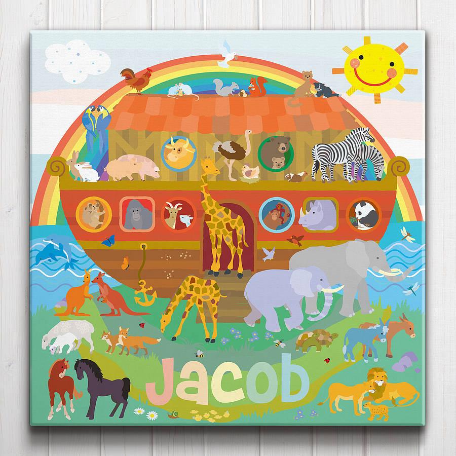 Noah's Ark Personalised Canvas