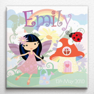 Personalised Little Fairy Canvas