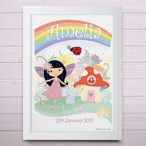 Personalised Little Fairy Print