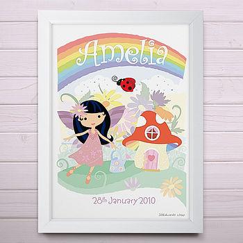 Personalised Little Fairy Print