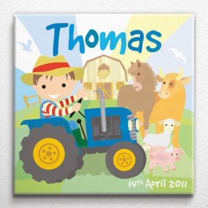 Personalised Little Farm Canvas