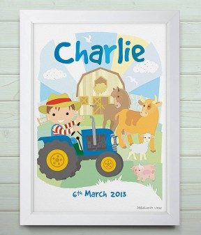 Personalised Little Farm Print