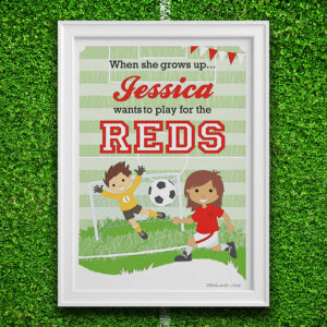 Personalised Little Footballer Print