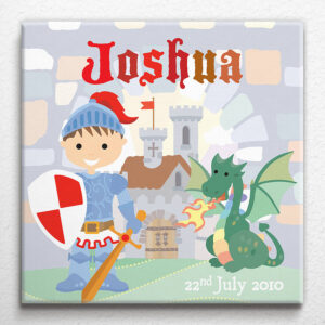 Personalised Little Knight Canvas