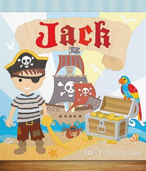 Personalised Little Pirate Canvas