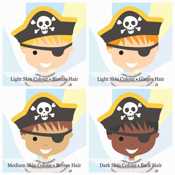 Personalised Little Pirate Options
