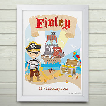 Personalised Little Pirate Print