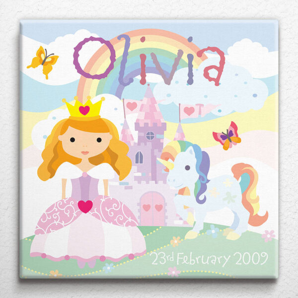 Personalised Little Princess Canvas
