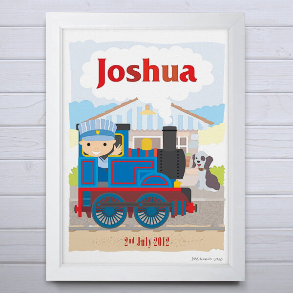 Personalised Little Train Print