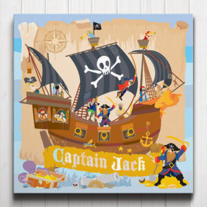 Pirate Captain Personalised Canvas