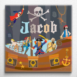 Pirate Ship Personalised Canvas