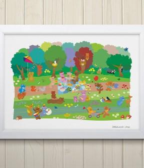 Teddy Bears' Picnic Print