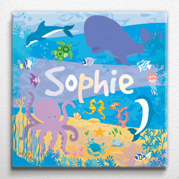 Under the Sea Personalised Canvas