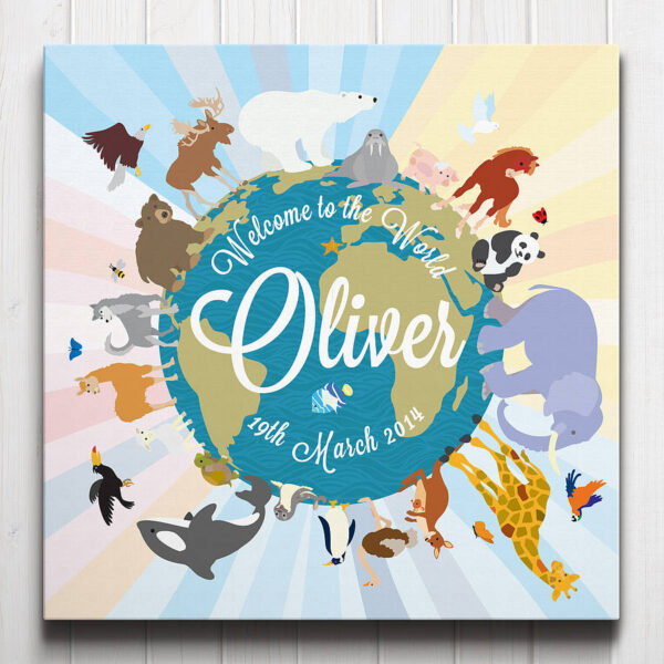 Welcome to the World Personalised Canvas