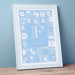 Personalised Alphabet Abc Print Duck Egg