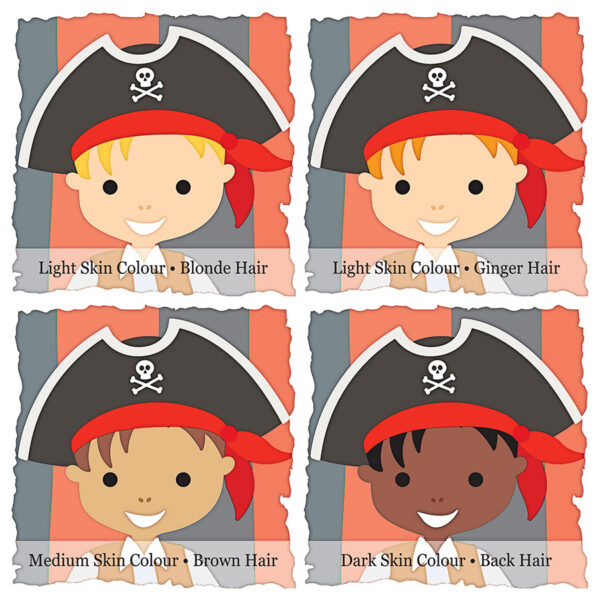Personalised Little Pirate Captain Print Choices