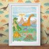 Land of Dinosaurs Personalised Print