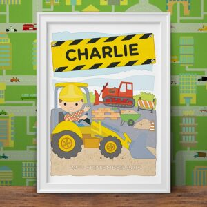 Personalised Little Digger Print