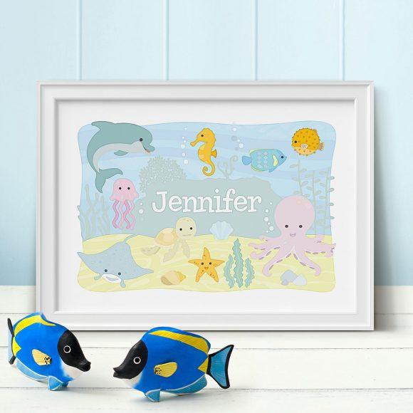 Ocean Animals Personalised Print