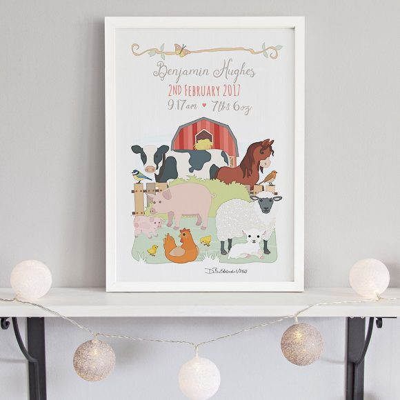 Farm Animals Birth Print