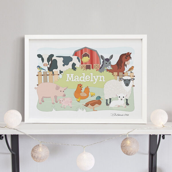 Farm Animals Personalised Print