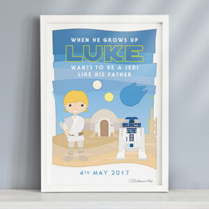 Personalised Little Jedi Star Wars Print