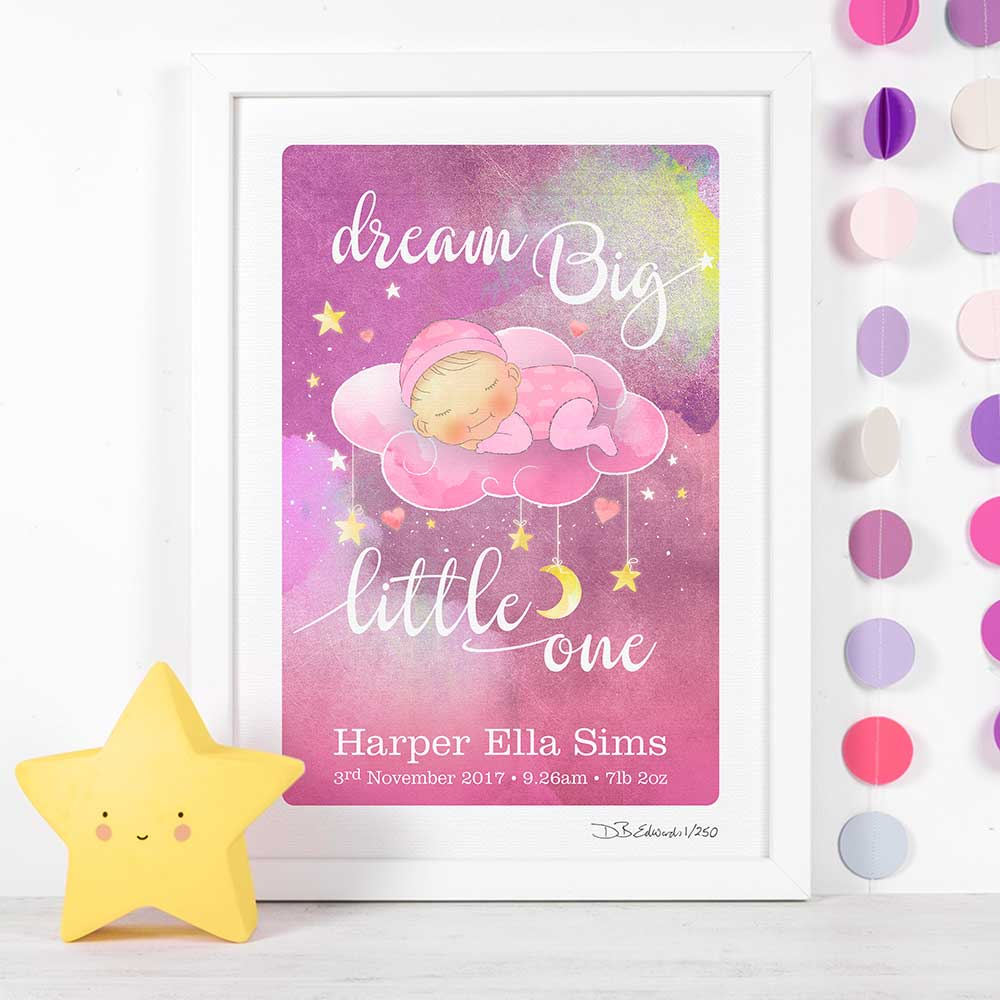 Dream Big Little One Personalised Print