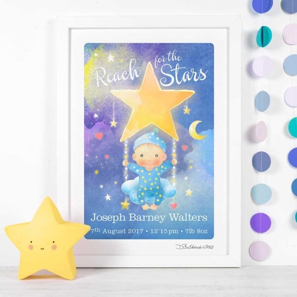 Reach for the Stars Personalised Print