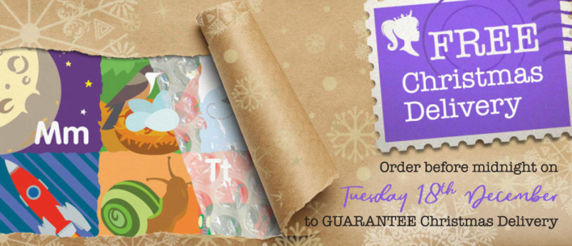 Order before midnight on Tuesday 18th December for Christmas Delivery
