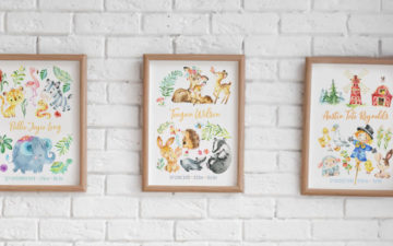 Animal Friends personalised prints