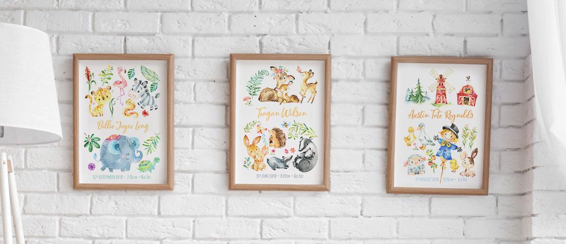 Animal Friends personalised prints